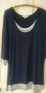 Simply Noelle 3/4 Sleeved Tunic Tee